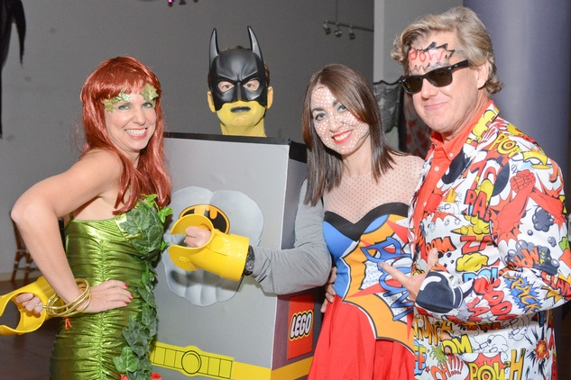 Judy and Bret Stanley, from left, and Sally and Mark Wheat at the Brasserie 19 Halloween party October 2014