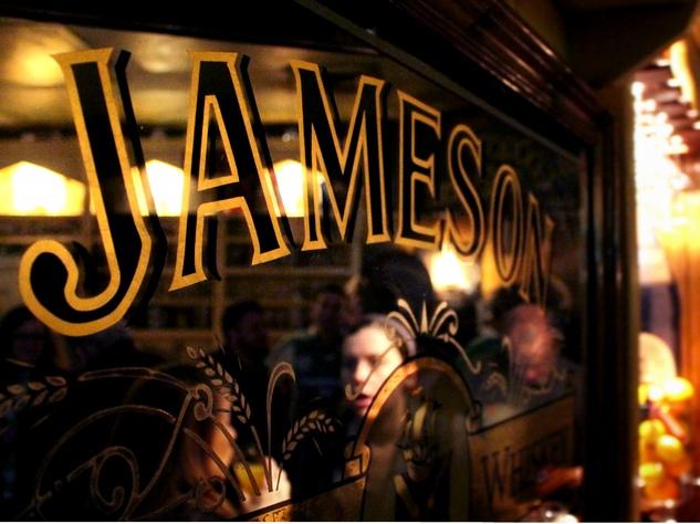Fado Irish Pub_Jameson Whiskey Sign_March 2015