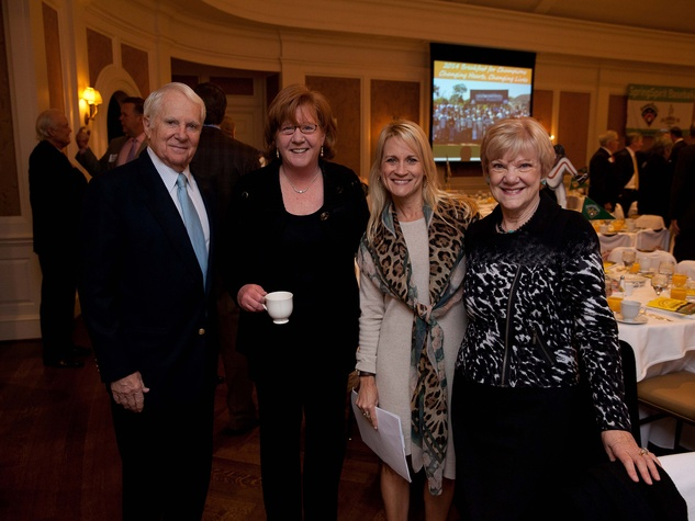 1 Blake McAdams, from left, Peggy Kostial, Melissa Baldwin and Penny McAdams at the SpringSpirit Baseball Breakfast February 2014