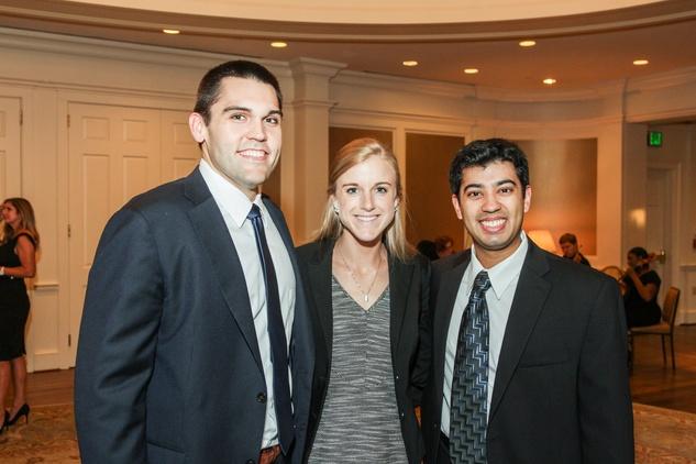 Ben Frank, from left, Gretchen Glynn and Nikhil Thaker at the Hospice Spirit Award dinner October 2014