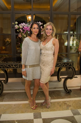 14 Amy Zadok, left, and Michelle Zadok at the Zadok jewelry dinner October 2014