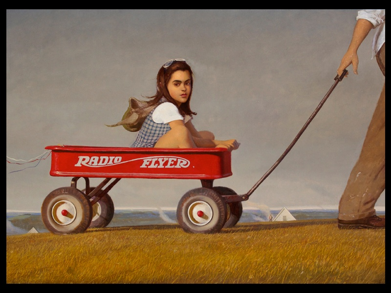 Texas Contemporary Art Fair, show artwork, October 2012, Bo Bartlett - Radio Flyer, BLACK SPACE