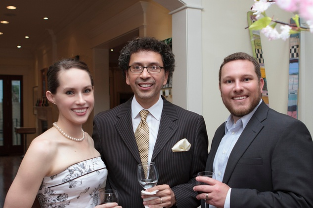 Marianne Terrell, from left, Enrique Carreón-Robledo and Kenny Terrell at the Opera in the Heights reception April 2014