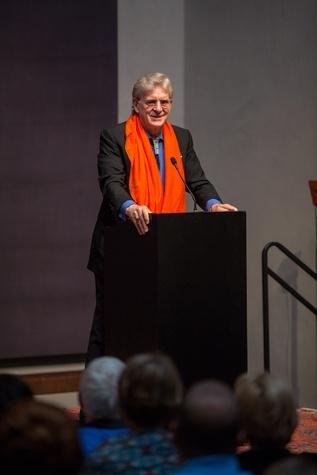 Robert Thurman at Love Your Enemies seminar with Robert Thurman at Rothko Chapel October 2014