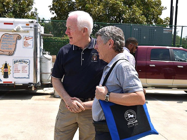 Houston news, Ed Emmett, John Cornyn, Sept 2017