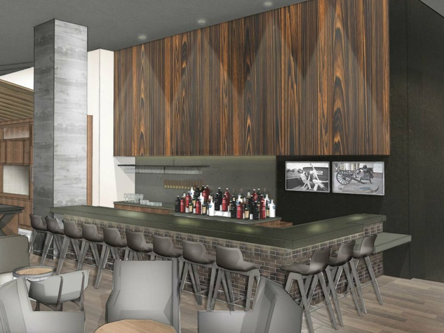 Hilton Austin downtown hotel 2016 renovation rendering bar Cannon + Belle
