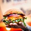 Arlo's food truck_veggie burger_vegetarian_bacon cheese burger_2015