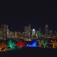 Trail of Lights Austin skyline
