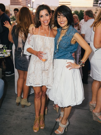5 Leslie Strauss, left, and Amy Johnston at Ceron 50th birthday party August 2014