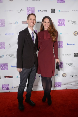 Ben and Heather Epps at the Houston Cinema Arts Festival opening party November 2014