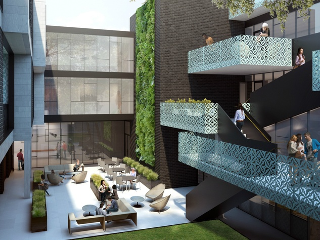 East Side Hotel_Cesar Chavez_courtyard_rendering_2015