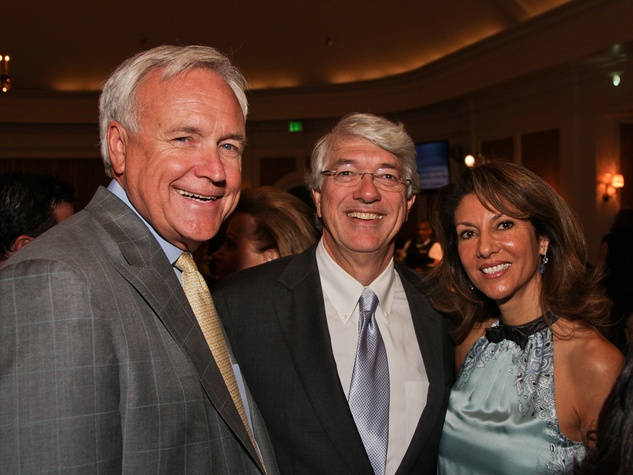 Bill King, from left, Scott Rozzell and Neda Ladjevardian at the Galveston Bay Foundation luncheon