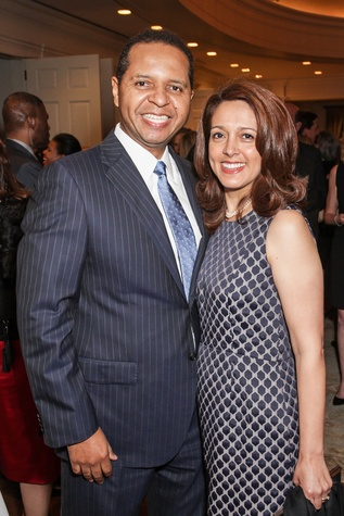 Benito and Lili Guerrier at the Cornerstone Dinner February 2015