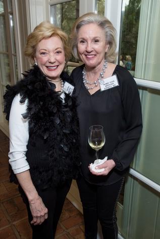 80 Virginia Watt, left, and Mary Nell Lovett at The Kinkaid School Alumni luncheon March 2015