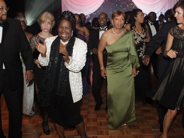 Ensemble Theatre gala, August 2012, Congresswoman Sheila Jackson Lee  dancing