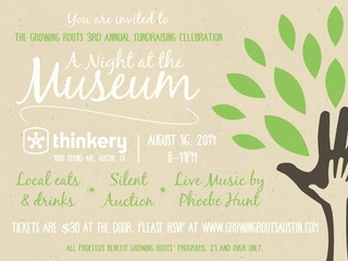 Growing Roots Night at the Museum fundraiser event