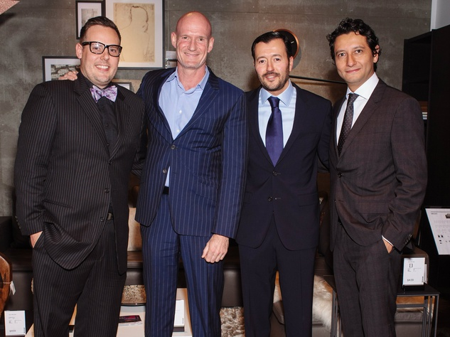 Kristian Christensen, Steen Knigge, Agustin Barragan, Irving Siguenza, Dwell with Dignity Wrap Party