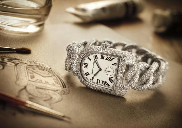 Ralph Lauren Stirrup collection diamond watch