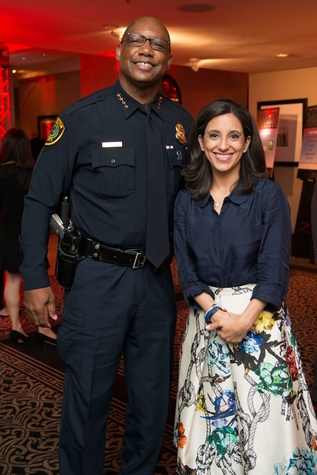 Houston, Crime Stoppers Awards luncheon, May 2015, Charles A. McClelland, Jr., Rania Mankarious