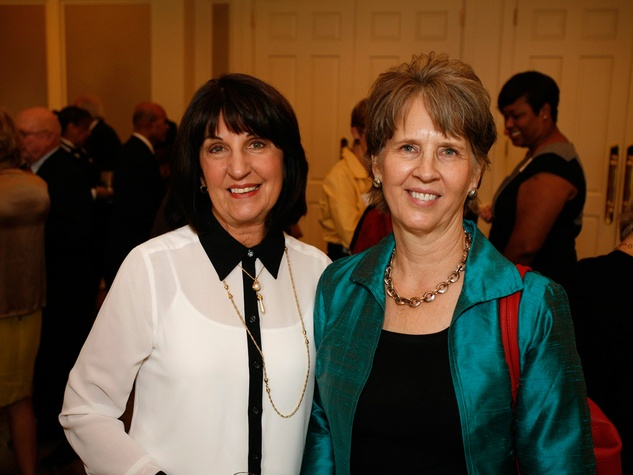 10 Chris LaChance, left, and Virginia Siegfried at the Houston Botanical Gardens luncheon December 2013