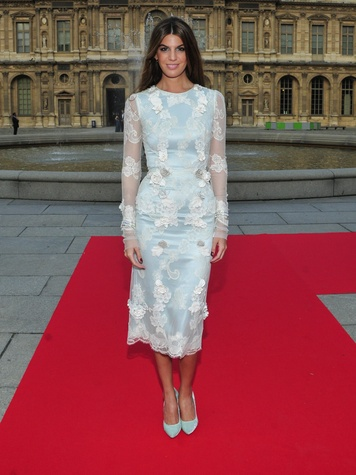 Louvre gowns Bianca Brandolini in Dolce and Gabbana June 2013