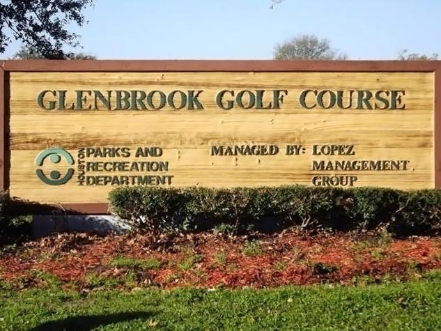 Glenbrook Golf Course Houston sign