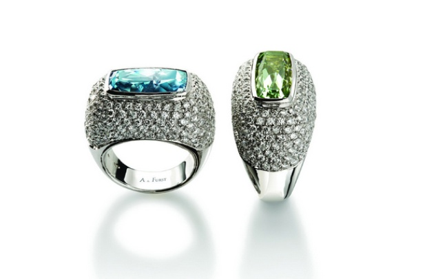 A & Furst Cocktail Rings
