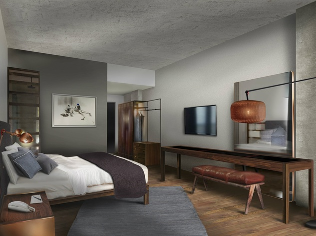 Highly anticipated soco hotel sets opening date for new for Furniture for hotel rooms
