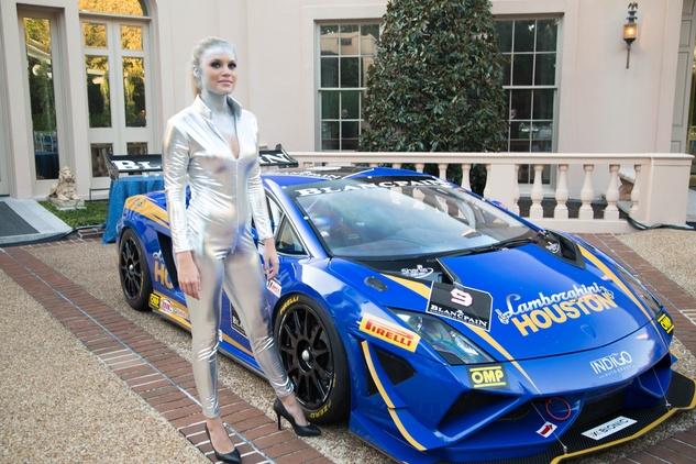 6 Gallardo race car at the Lamborghini party September 2014