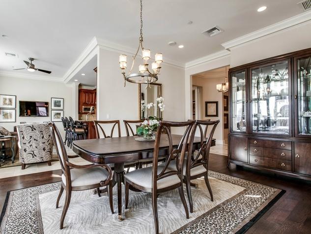 Dining room at Ritz-Carlton unit 702 in Dallas