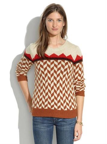 Madewell Chevron Sweater