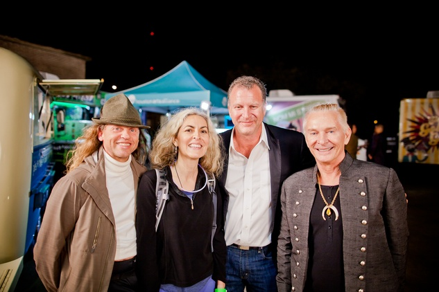John Smither, from left, Cynthia Ivy, John Rinando and Dennis Starks at HAA Iluminación November 2014