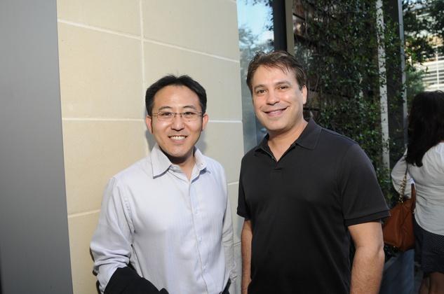 Jonathan Sugaui, left, and Robert Tierjina at the Curry Crawl May 2014