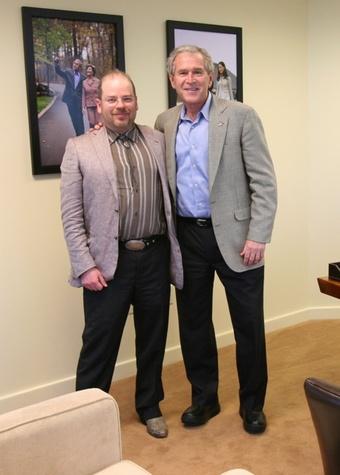 Mark Balma with former President George W. Bush