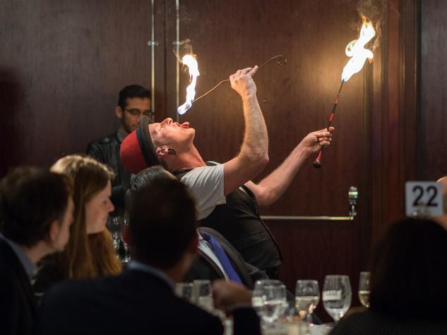 25 Marty the Juggler at the Bon Vivant dinner January 2015