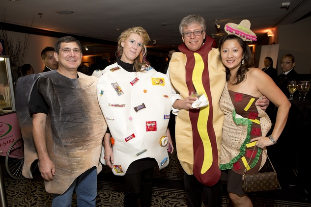 Fred and Stephanie Pevow, from left, and John and Diem Allis at The Bash A Halloween Happening October 2014
