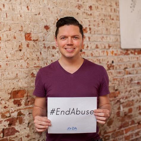 David Peck AVDA End Abuse campaign