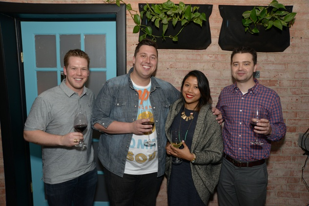Scott Klovans, from left, Mark Salvie, Ecky Prabanto and Trey Bahney at the Urban Wild of Memorial Park Conservancy's Launch Party March 2015