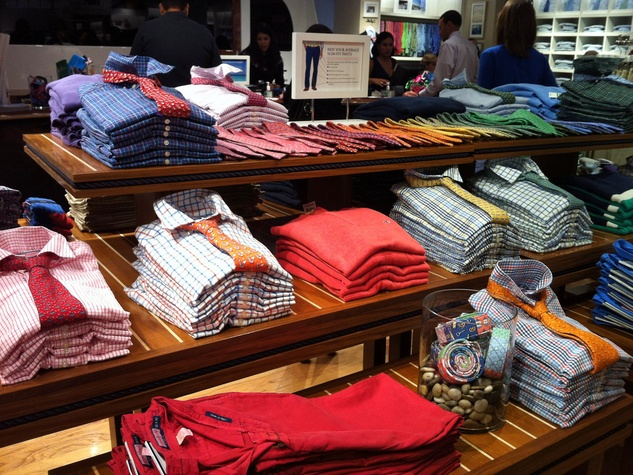 Vineyard Vines store in The Woodlands October 2013 men's shirts and ties