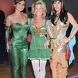 Monique Morgan, from left, Mary Hood and Lori Vismara at the Brasserie 19 Halloween party October 2014