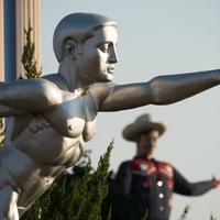 Fair Park with Big Tex in the background