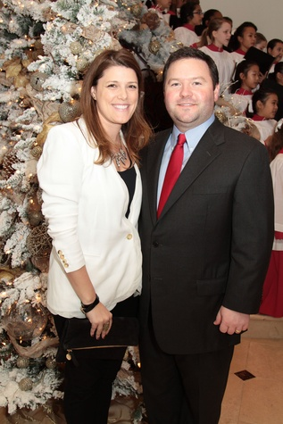 Sarah and Bradley Bracewell at the 9th Annual Santa's Elves Event December 2014