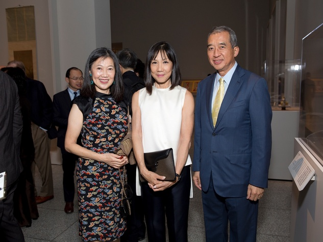 MFAH Emperors Treasures dinner, Anne Chao, Lucy Sun, Albert Chao
