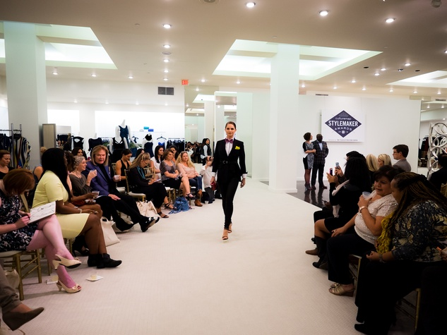 Look from David Goltl at 2014 CultureMap Stylemaker Awards
