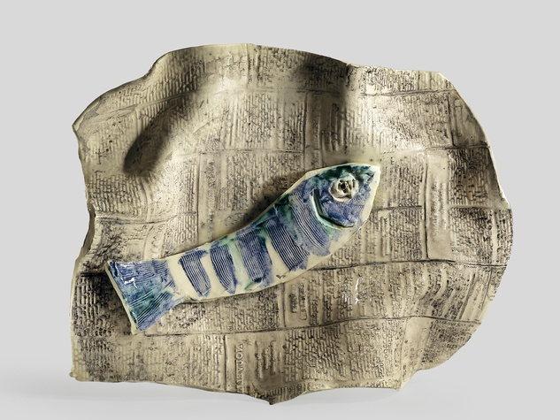 Pablo Picasso Fish on a Sheet of Newspaper