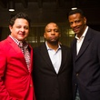 74 1498 at James Rodriguez, from left, Kevin Smoot and Larry O'Neal at Chandler Parsons' birthday at Mr. Peeples October 2013