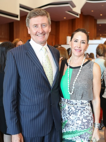 Tom and Liz Glanville at the SPA luncheon October 2013