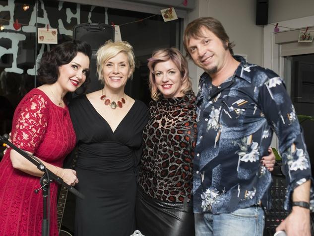 Kaycee Clark, Kate Myner, Holly Dear, Kelly Reily, 7 year party Dear Clark