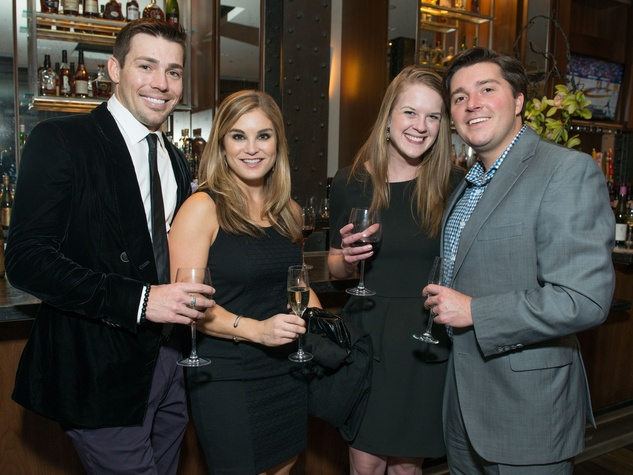 23 James Shepherd, from left, Anya Marmuscak and Kate and Drew Riley at the JW Marriott Houston Grand Opening November 2014