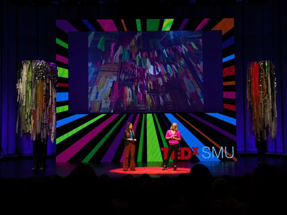 Color Condition's Marianne Newsom and Sunny Sliger at TEDxSMU 2014